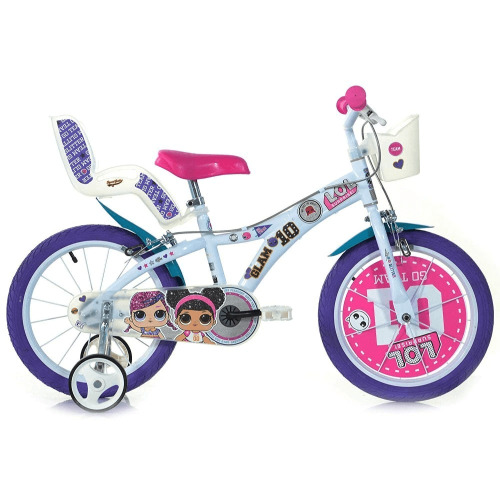 """Dino Bikes - 16 """"Lol Surprise Bicycle With Doll'S Seat And Basket For 5 - 8 Years"""