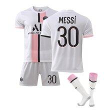 Messi #30 Home Jersey 2021-2022 Season Lionel Messi Paris Saint Germain Team Jersey Kit for Kids Teens