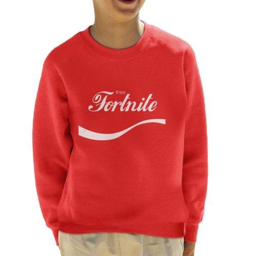 (X-Small (3-4 yrs)) Enjoy Fortnite Coke Logo Kid's Sweatshirt