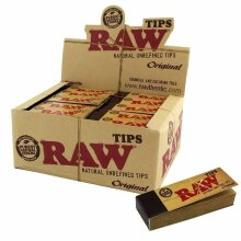 RAW Rolling Paper Roach Filter Tips Chlorine Free Roach Book