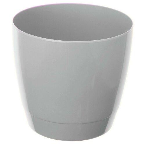 Indoor Round Plant Pots 14cm Small Round Indoor Planters Grey