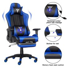 ELECWISH Gaming Chair Ergonomic Massage Racing Chair with Footrest
