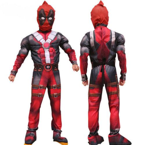 (5-7 Years) Marvel Deadpool Halloween Cosplay Costume Kids Boys Party