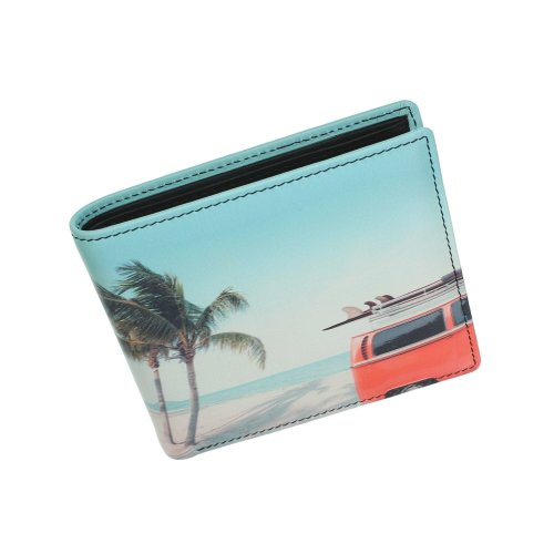Kalmin Printed Leather Wallet with RFID Protection 196_4 Camper
