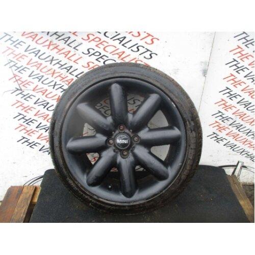 Mini Cooper S R50 00-06 Single Alloy Wheel + Tyre 205-45-17 Vs9788 *scuffs* - Used