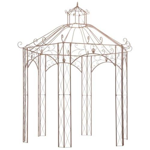 45438 vidaXL Garden Pavilion Antique Brown 3 m Iron