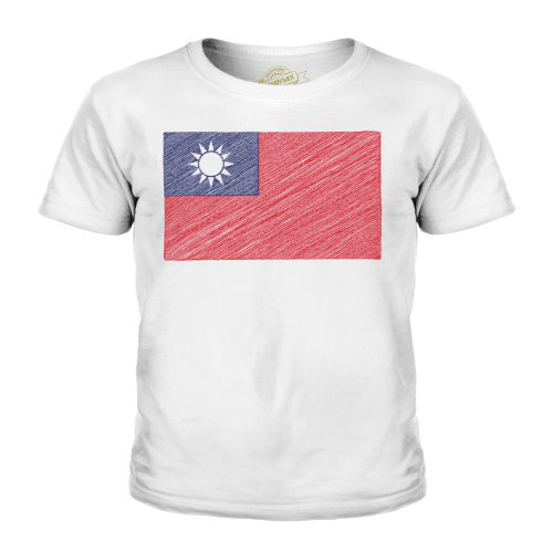 Candymix - Taiwan Scribble Flag - Unisex Kid's T-Shirt