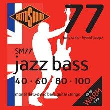 Rotosound Monel Hybrid Gauge Flatwound Bass Strings (40 60 80 100)