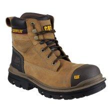 Caterpillar Gravel 6 Inch Mens Dark Beige Safety Boots