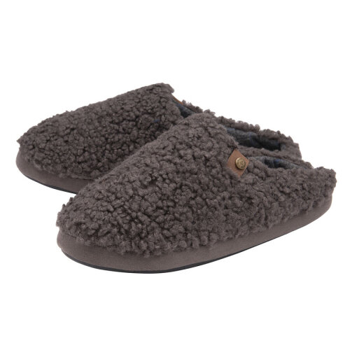 (10) Dunlop Mens Ross Cosy Mule Slippers  - Charcoal
