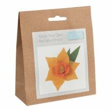 Felt Decoration Kit: Daffodil Brooch