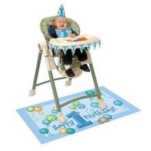 Blue Balloons 1st Birthday High Chair Decorating Kit