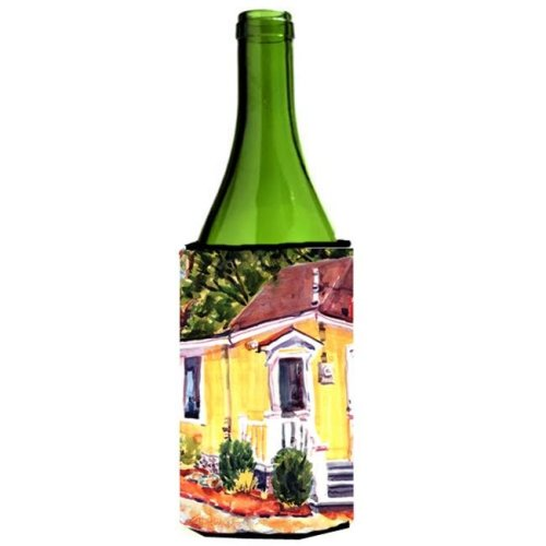 Yellow Cottage At The Beach Wine Bottle  Hugger - 24 oz.