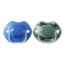 Tommee Tippee Urban Style Soother, 6 to 18 Months, Blue, Pack of 2