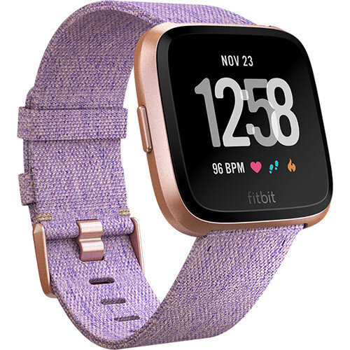 Fitbit Versa Fitness Watch Special Edition - Rose Gold & Lavender