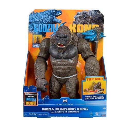 "Monsterverse Godzilla vs Kong 13"" Mega Figure Mega Kong with lights & sounds"