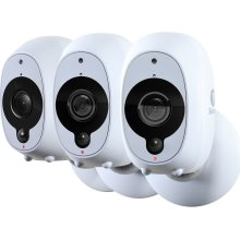 SWANN SWWHD-INTCAMPK3 Smart 1080p Full HD Wireless Security Cameras - Pack of 3, Black