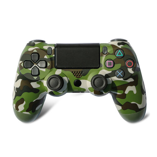 Wireless Controller for Playstation 4, Game Controller for PS4/Slim/Pro Console - Green Camouflage