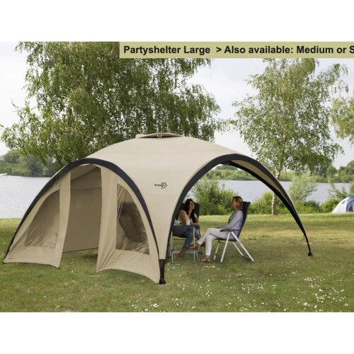 Bo-Camp Party Shelter Small Beige Outdoor Sun Shade Canopy Gazebo Marquee