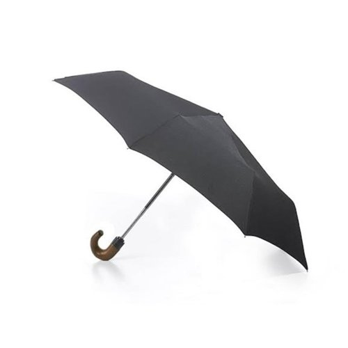 Fulton Open & Close with Wooden Crook Handle Folding Umbrella 31 cm