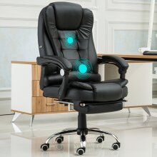Luxury Massage Computer Office Desk Gaming Chair Swivel Recliner with Footrest