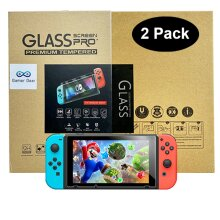 Nintendo Switch Console Premium Tempered 9H Glass Screen Protector x 2