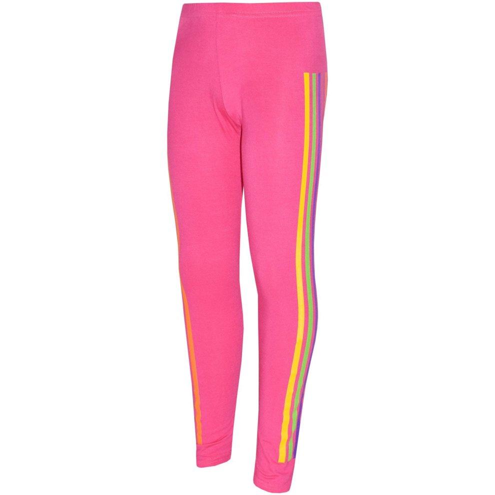 Kids Girls Rainbow Unicorn Dab Floss Pink Hooded Top Legging Set Tracksuit 7-13Y