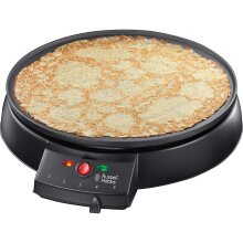 Russell Hobbs Fiesta Crepe And Pancake Maker Electric Non Stick Hot Plate -Black