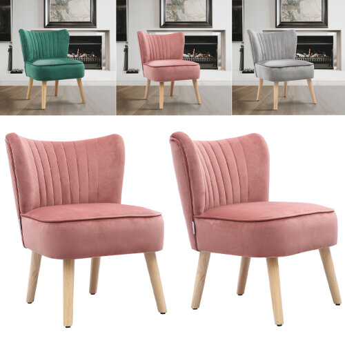 Modern Velvet Occasional Chair Upholstered Accent Chair