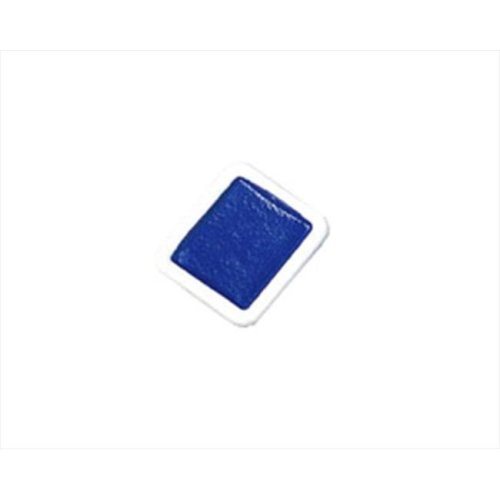 Non-Toxic Washable Semi-Moist Watercolor Paint Refill, Plastic Half Pan, Blue, Pack - 12