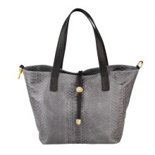30x24x13 cm -Leather Tote Bag - Made in Italy