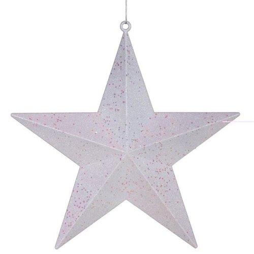Vickerman M116014 Lime Glitter Star Ornament - 6 in.