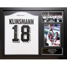 Framed Jurgen Klinsmann signed Germany shirt with COA & proof