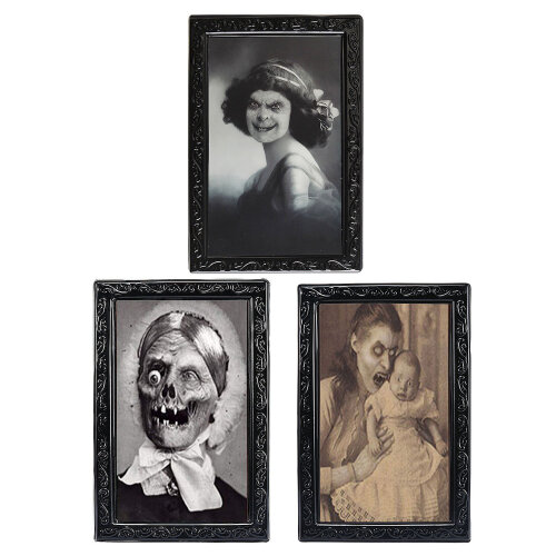 TRIXES Pack of 3 Halloween 3D Lenticular Magic Moving Picture Frames 38 X 25 cm