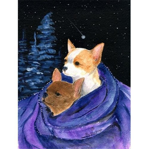 Starry Night Chihuahua Flag - Garden Size, 11 x 15 in.
