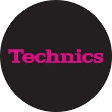 Technics 60652 Simple T3 Slipmat - Pink/Black