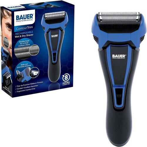 Bauer Portable Rechargeable Cordless Mens Shaver