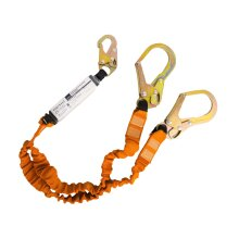 Portwest Mens Double 140kg Fall Arrest Lanyard with Shock Absorber