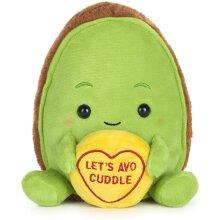 "Swizzels Love Hearts 18cm (7"") Avocado ""Let's Avo Cuddle"" Message Plush Soft Toy"