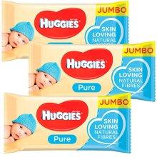 Huggies Pure Baby Wipes 72 Gentle Sensitive Skin Natural Alcohol Free (3)