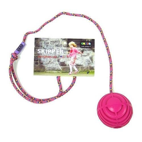 Just Jump It Skipper Skip Ball Toy Agility Toy Skip And Jump Toy For Cardio Health And Coordination Raspberry