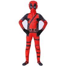 Kids Children Superheroes Costume Deadpool Full Body Halloween Fancy Cosplay Set