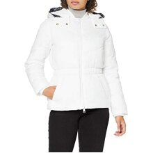 Armani Exchange Women's Blouson Jacket Down Alternative Coat, Off White, X-Large
