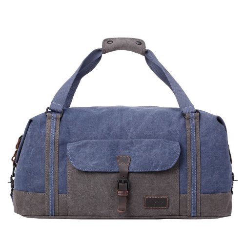 TRP0466 Troop London Classic Canvas Messenger Bag | Buy Bags Online | Canvas Messenger Bags | leather canvas backpack