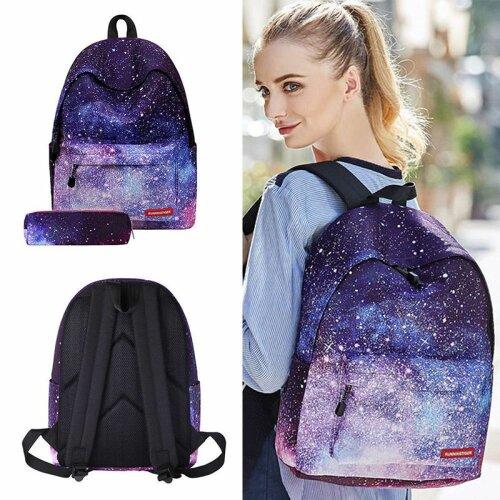 Galaxy Starry Backpack Rucksack School Bag Satchel