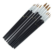 12 Piece Pointed Tip Artist Paint Brush Set Pro Quality Art Craft Amtech S4120