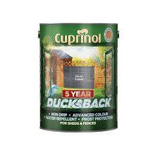 Cuprinol 5095343 Ducksback 5 Year Waterproof for Sheds & Fences Silver Copse 5 Litre