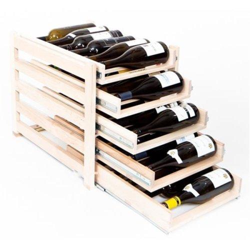 Five Tray 30 Bottle Storage Wine Rack - 22.25 x 18.25 x 16.13 in.