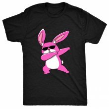8TN dabbing easter bunny - Pink Unisex-children T Shirt