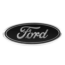 Black Ford Rear Boot Badge Emblem For Mondeo (115mm x 45mm)